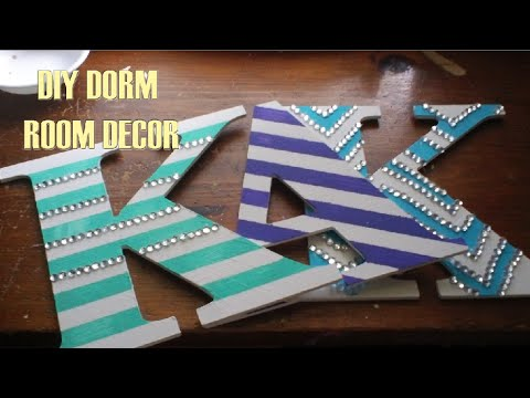 Diy Wall Letters Dorm Room Decor Perfect Roommate Gift Youtube