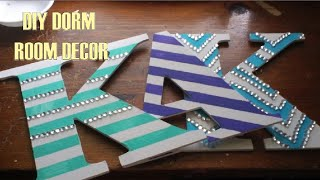 Diy Wall Letters Dorm Room Decor! Perfect Roommate Gift