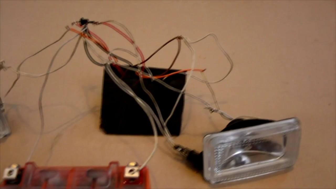 Свет на мотоблок, схема подключения,