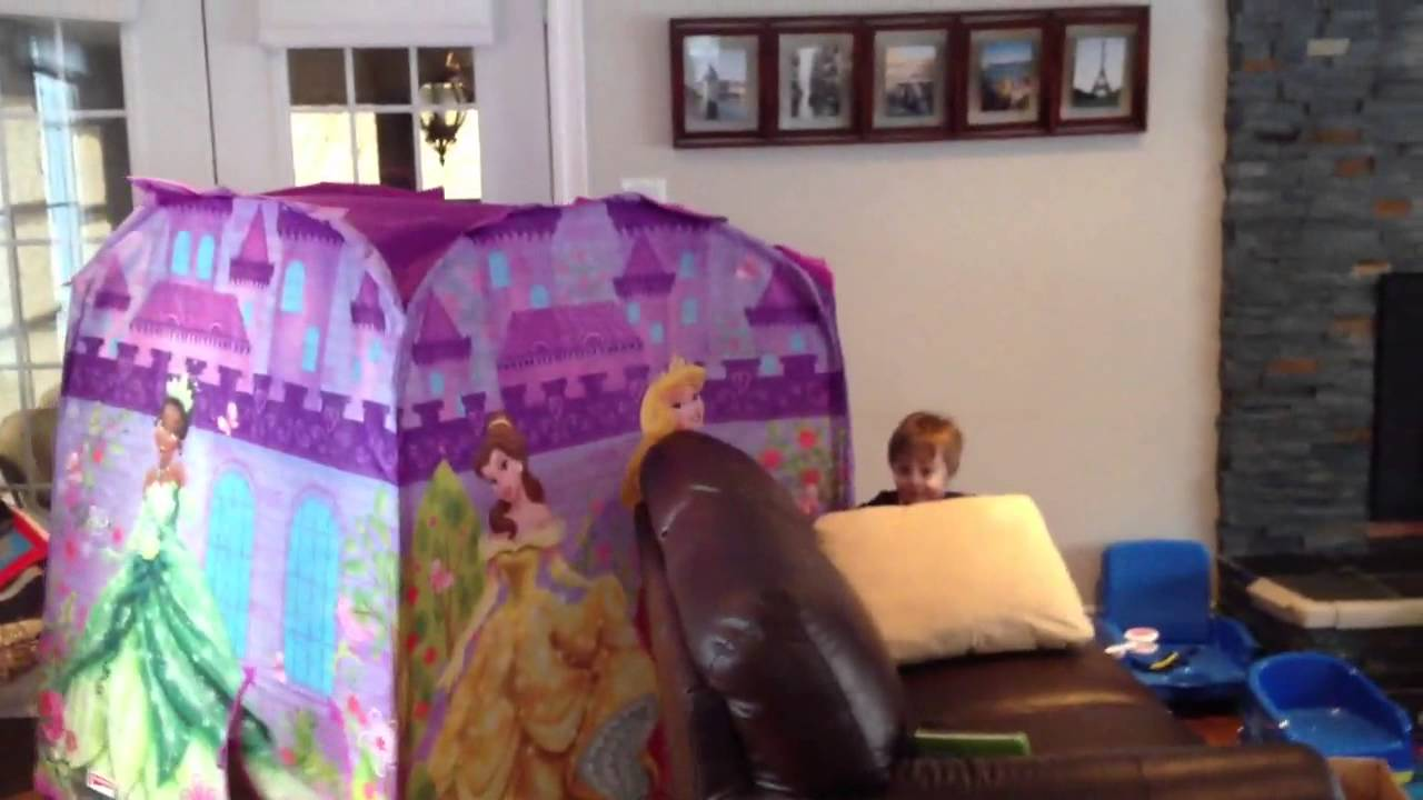 Moving Disney Princess Tent & Moving Disney Princess Tent - YouTube