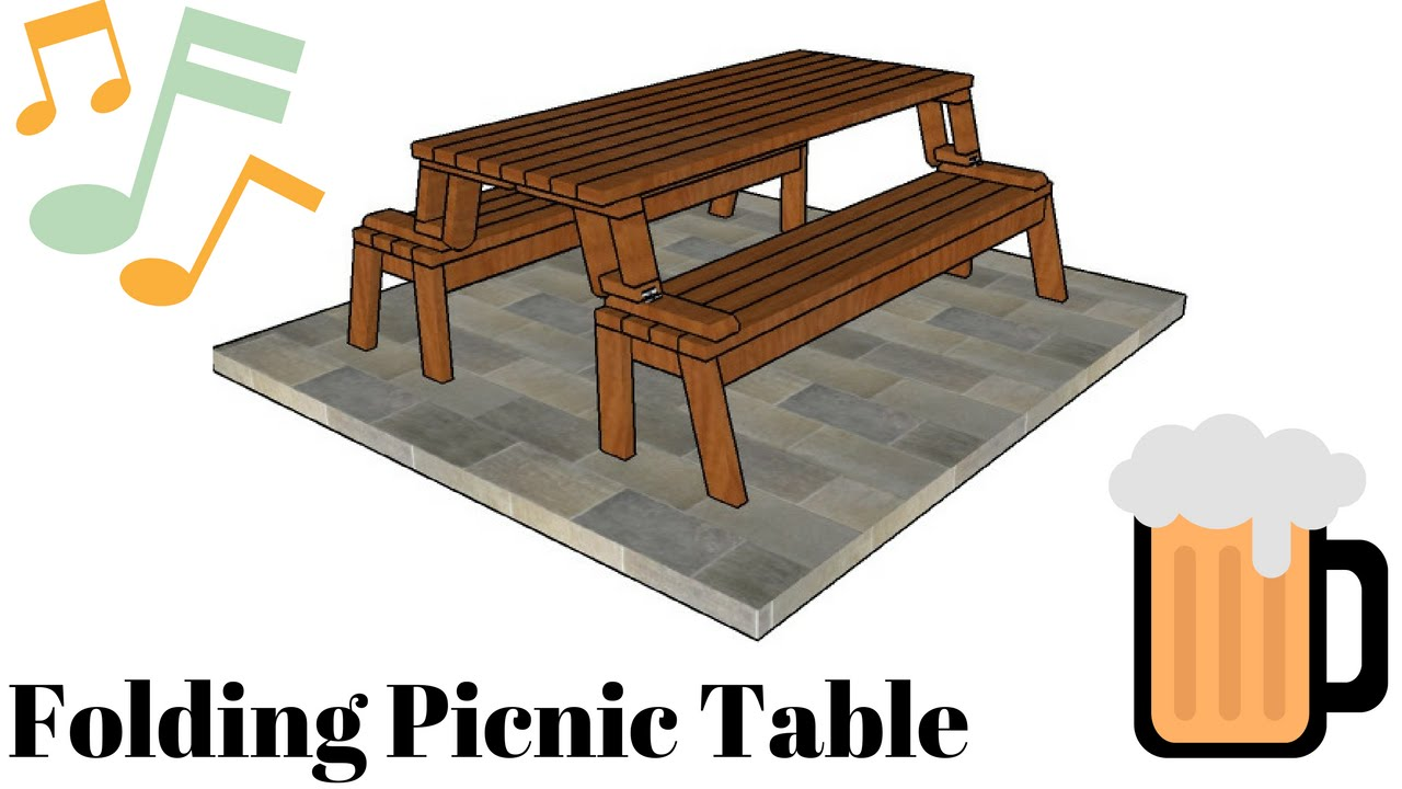 Folding Picnic Table Plans - YouTube