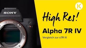 Vergleich Sony Alpha 7R IV vs Alpha 7R III | Foto Koch