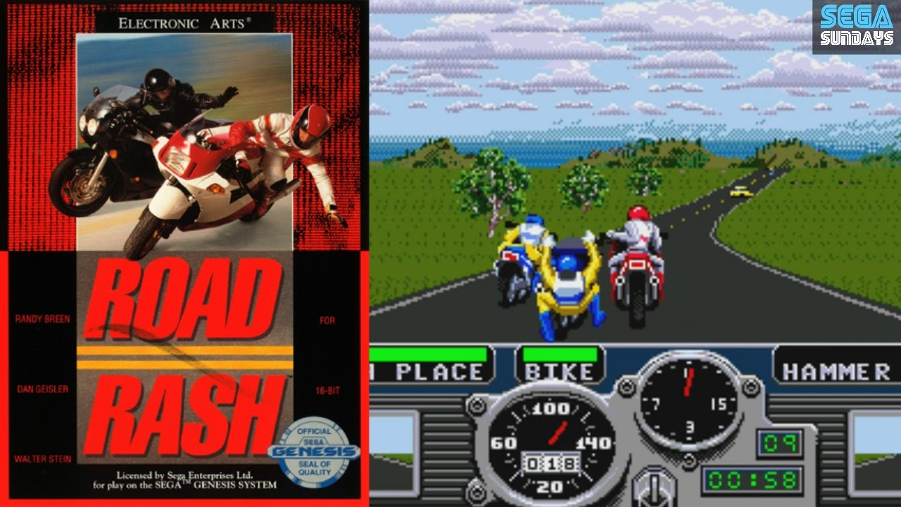 Image result for road rash game SEGA