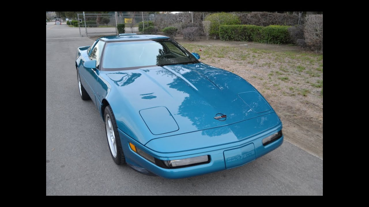 1995 Corvette For Sale >> SOLD 1995 Corvette ZR1, Aqua for sale by Corvette Mike Anaheim California - YouTube
