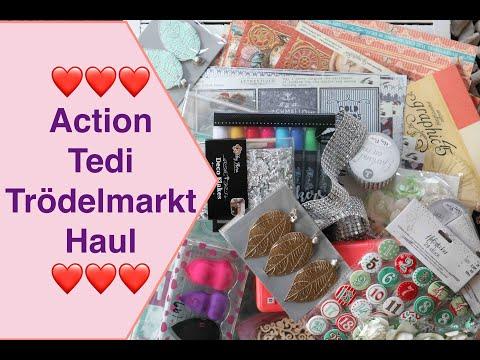Haul Action Tedi Haul (deutsch) Trödelmarkt , Sticker Planer Kosmetik Weihnachtskalender Scrapbook