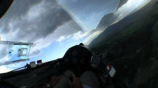 Glider Racing into Thunderstorm