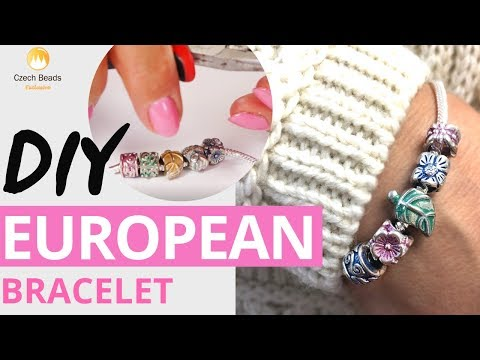 DIY Jewelry Tutorial| Bracelet with Czech Patina™|European |Pandora Style Beads