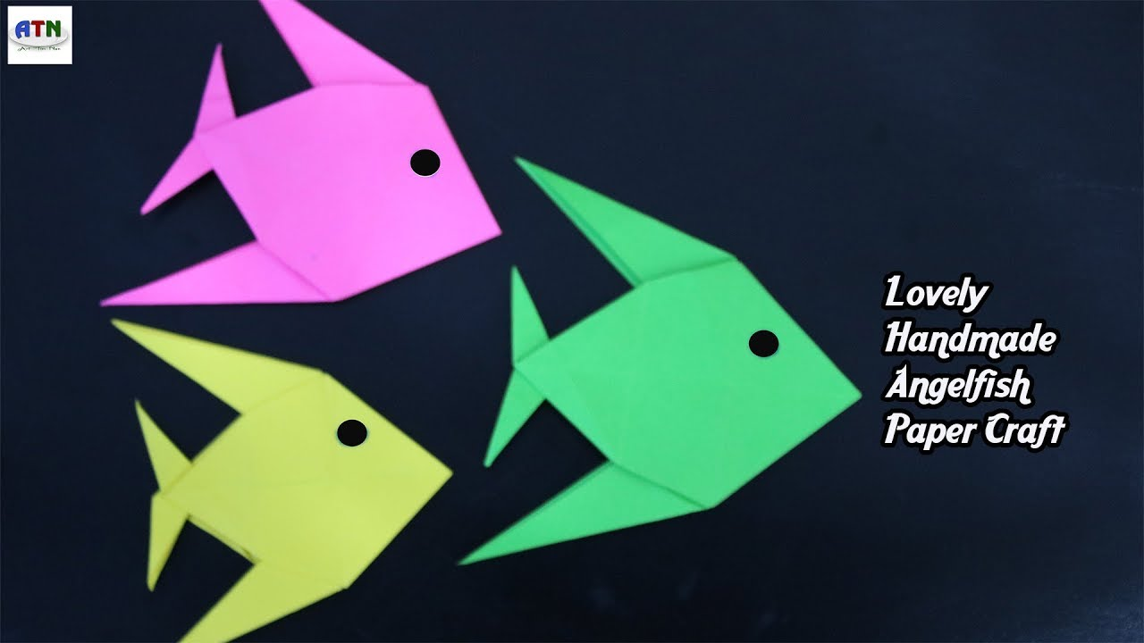 Origami Angelfish, designed by Satoshi Kamiya, folded by me, 2019 ...   720x1280