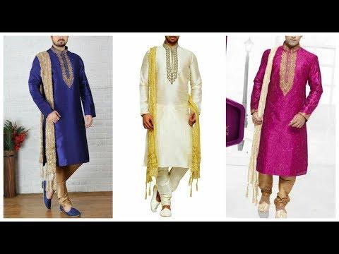 Mens Kurta pajama Designs For Punjabi Wedding Style || Latest Party wear Kurta Pajama Design 2018-19