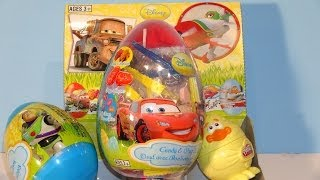 12 Surprise Eggs Kinder Surprise Pixar Cars, Pixar Planes Disney Princess Hello Kitty and Mickey Mou