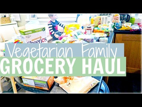 VEGETARIAN FAMILY GROCERY HAUL/FOOD SHOP | Alex Gladwin