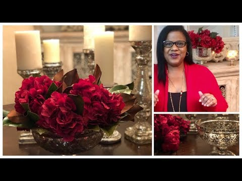 How to make a Holiday/Christmas Flower arrangement/ Holiday series part 1