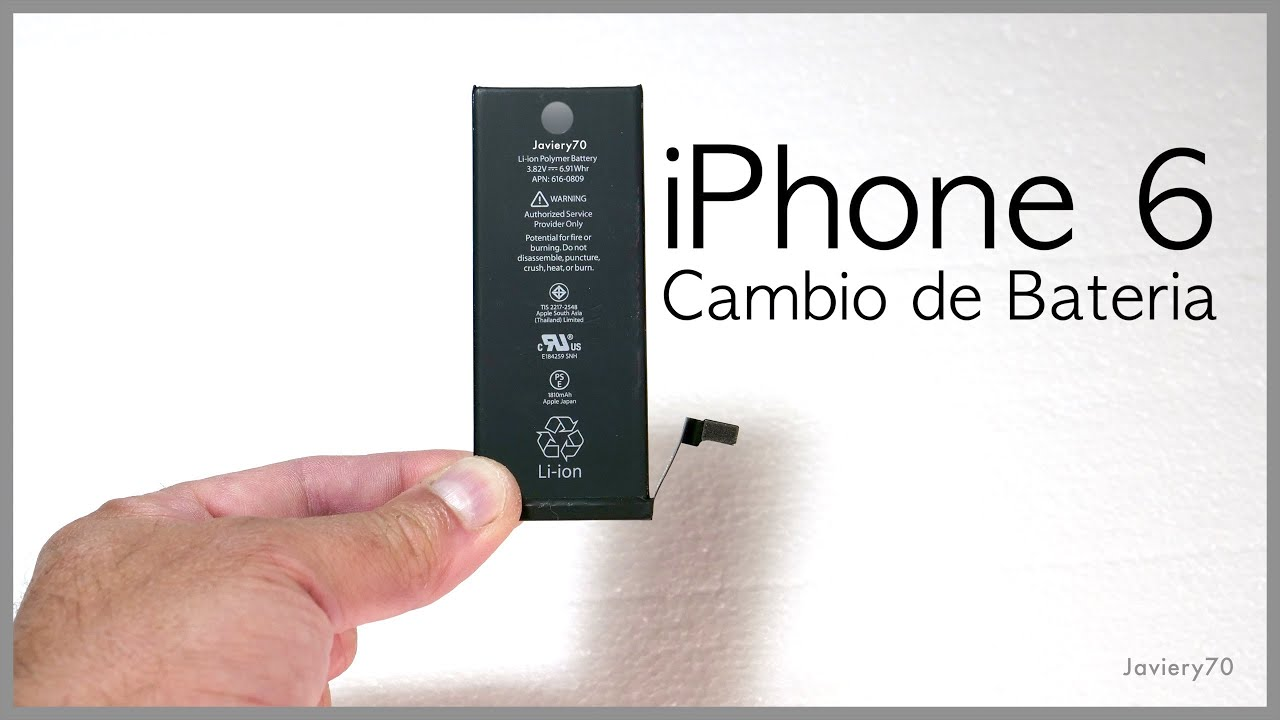 Como Cambiar Bateria Iphone