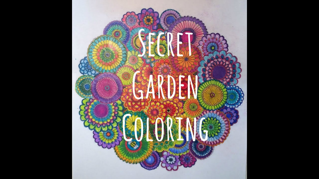 Secret garden coloring book youtube Amazon coloring books for adults secret garden