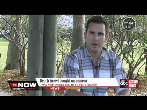 Beach brawl in St Pete captured on drone   abcactionnewscom  Tampa Bay