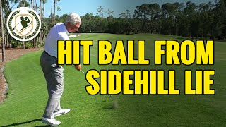 GOLF BALL POSITION ON ODD SIDEHILL LIES - BALL ABOVE AND BELOW FEET