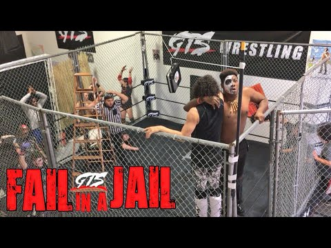 STEEL CAGE LADDER MATCH! INSANE FROG SPLASH THROUGH TABLE!