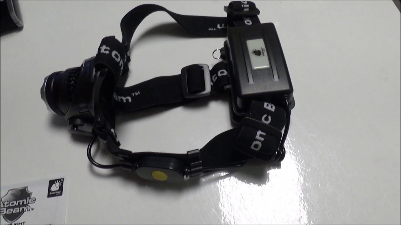 51d0c357e1 METAL DETECTING HEADLIGHT CREE ATOMIC BEAM 5000 LUX - YouTube