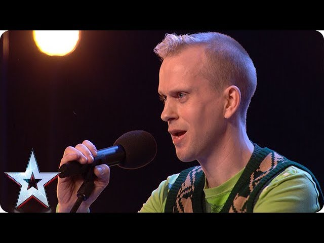 Robert White Performs Comedy Song About The Judges Auditions Week 1 Britain S Got Talent 2018