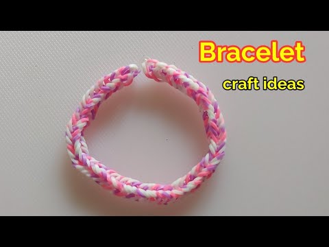 How to make rainbow loom bracelet    bracelet making ideas handmade