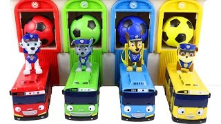 Learn colors for Toddlers with Paw Patrol Tayo Garage with Surprise Toys