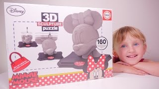 JOUET • 3D Puzzle Minnie Mouse Disney - Studio Bubble Tea unboxing