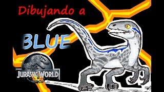Dibujando a Blue de Jurassic World   Víctor González