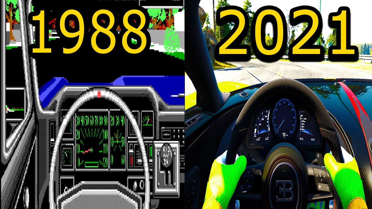 The evolution of the cockpit view in sim racing 1987-2021 must see!!!!