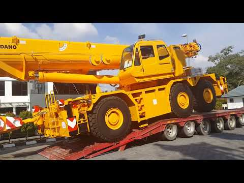 Custom paint TADANO GR-1450EX cranes on board