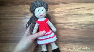 Кукла крючком шаг за шагом. Прибавка и убавка.#1