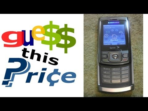 Sprint Samsung SPH-M520 Mobile Phone - GUESS THIS PRICE! EBAY AUCTION GAME