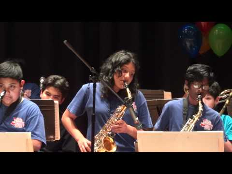 """PITS Van Nuys Middle School Jazz Band """"Take the A Train"""" 2012"""