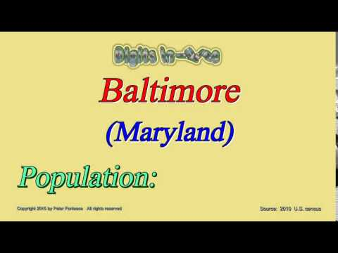 Baltimore Maryland Population In 2010 - Digits In Three