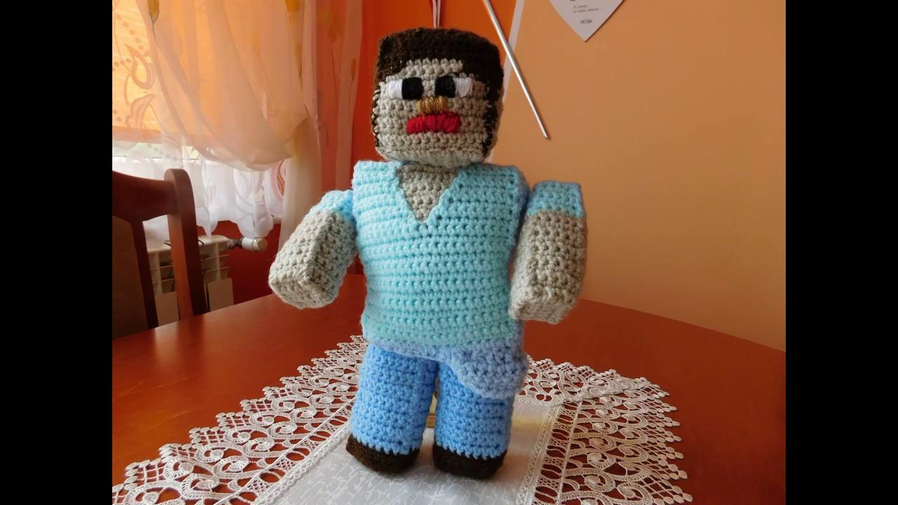 Rainbow Loom 3D Minecraft Steve Amigurumi/Loomigurumi Doll Crochet ... | 720x1280