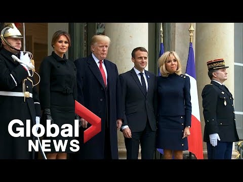 U.S. President Trump, French President Macron hold bilateral