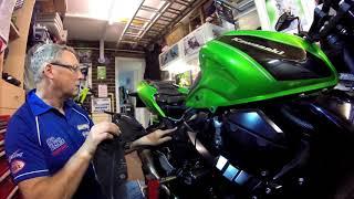 Kawasaki Z750 spark plug change