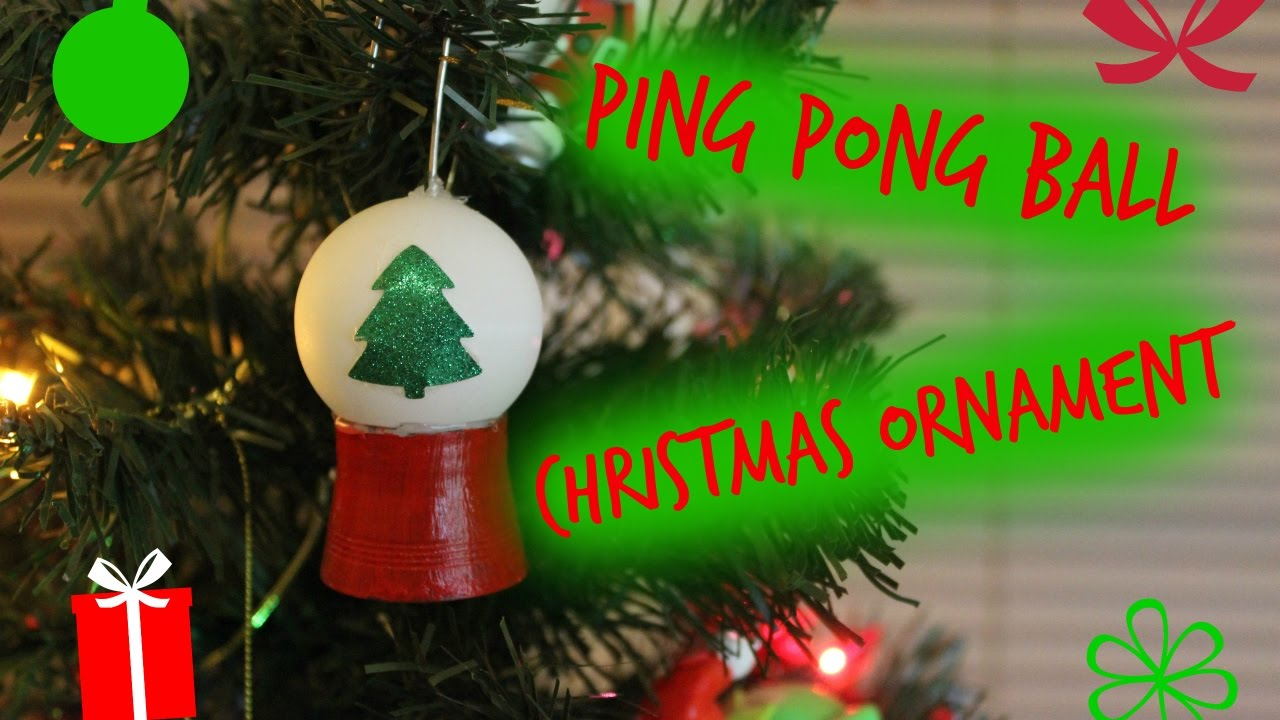 Ping Pong Ball Snow Globe Ornament