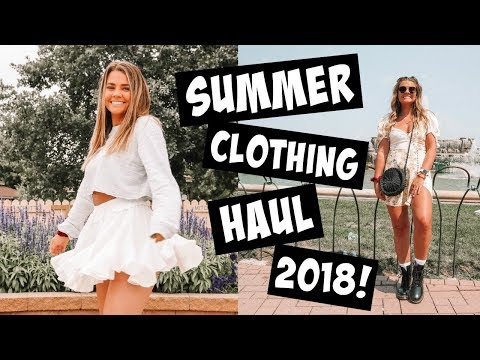 SUMMER CLOTHING HAUL 2018 | Free People, Urban, For Love & Lemons & more!