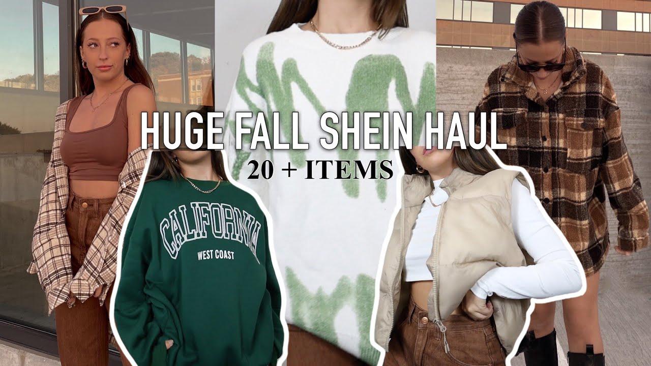 Huge Fall Shein Haul 2021    Fall Shein Try On Haul Fall Basics, Flannels, Jeans + Shein Discount