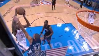 Kevin Durant sick facial dunk on Shane Battier (June 14, 2012)