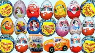 26 Surprise Eggs Kinder Suprise Cars Angry Birds Minnie Mickey Mouse Chupa Chups Donald Duck