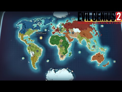 Evil Genius 2! An In depth look at the World Map, Tips&Tricks for Schemes to conquer the World  