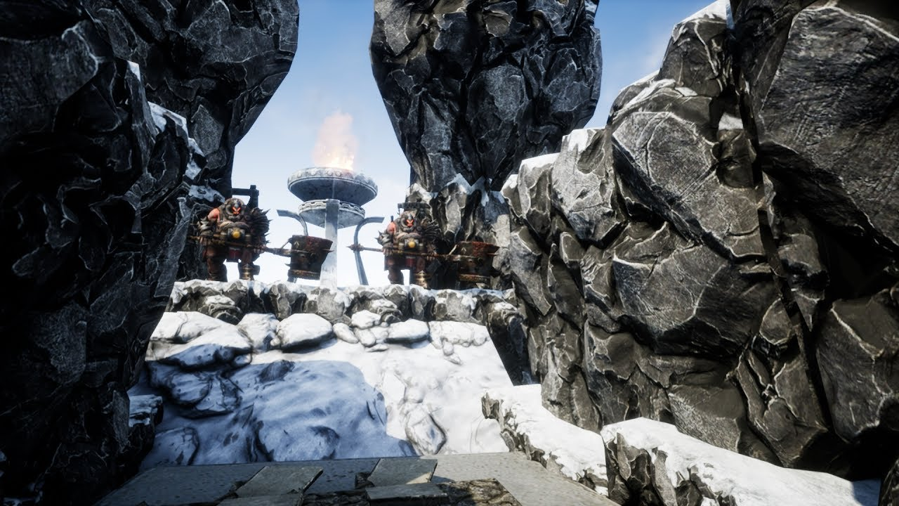 unreal engine 4 level design time lapse ice lands