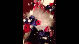 My Mommy Mothers Day Red White Blue Clothes Pin Cushion Rocking Chair