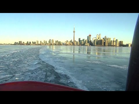 Icebreaker hard at work in Toronto Harbour