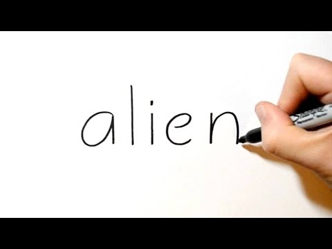 How to Turn Words Alien into a Cartoon #16