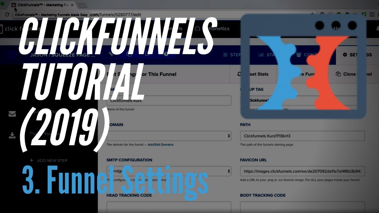 Clickfunnels Tutorial deutsch (2019) - 3. Funnel Einstellungen