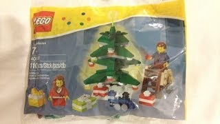 Lego Decorating The Tree Polybag Christmas Scene 40058 Unbag Build & Review