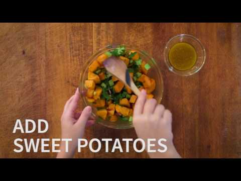 New Healthy Eating Cookbook Recipes: Sweet Potato Salad With Dried Cranberries
