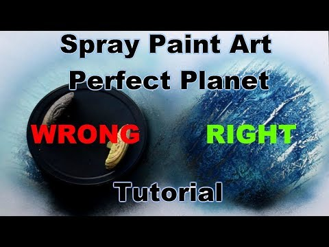 BEGINNERS SPRAY PAINT ART TUTORIAL - HOW TO MAKE PERFECT PLANETS thumbnail
